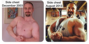 What 10 years of lifting has done for my body.