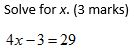 A simple linear equation to solve.