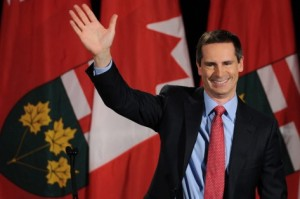 Dalton McGuinty after being elected Premier in 2011