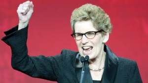 Kathleen Wynne after being elected Premier in 2014