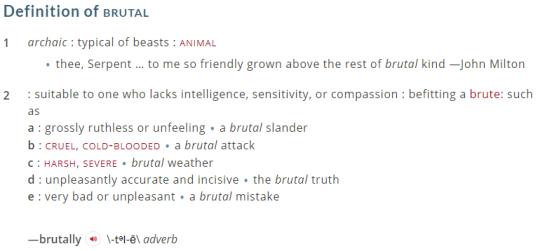 Definition of brutal